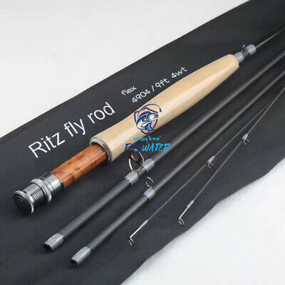 $ CDN97.88 • Buy PayWater 9' 4wt Fast Action IM8 Carbon Flex Fly Rod Grey/Black Matte W/EXTRA TIP