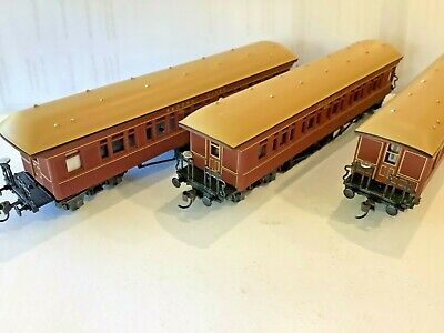 AU180 • Buy NSWGR - B & FJ , 1st & 2nd . BOGIE, VGC, KD's, 3 Carriages, TRAINORAMA, Boxed