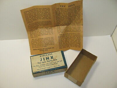 $ CDN12.54 • Buy Rinehart Jinx Vintage Lure Box With Rare Paperwork Wbb