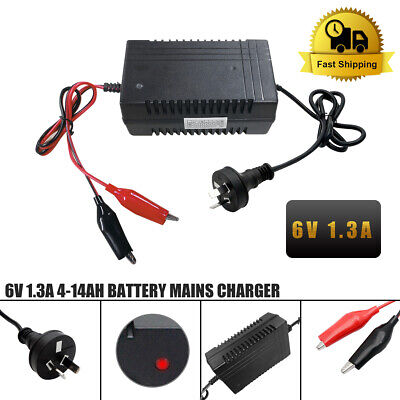 AU20.39 • Buy 6V 1.3A Volt Battery Charger Intelligent Electronic Battery Charger For Toy Car