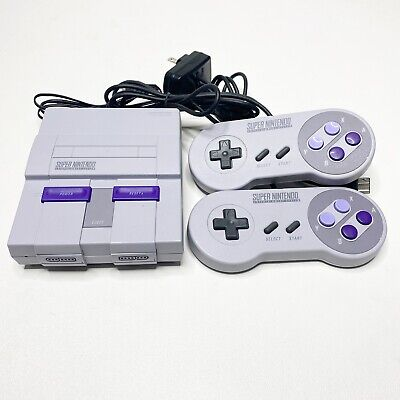 $ CDN174.96 • Buy Nintendo SNES Classic Mini Video Game Console 21 Games And 2 Controllers