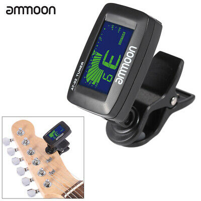 $ CDN11.66 • Buy Ammoon AT-02 Electric Tuner Clip-on Three Colors Backlit Screen For Guitar W3V2