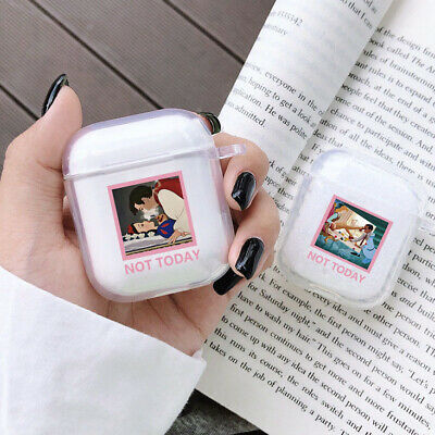 $ CDN4.83 • Buy Funny Princess Not Today Transparent Protect Cover For AirPods 1 2 Earphone Case
