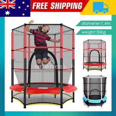AU84 • Buy 4.6FT Trampoline Round Trampolines Kids Enclosure Outdoor Indoor Gift Jumping AU