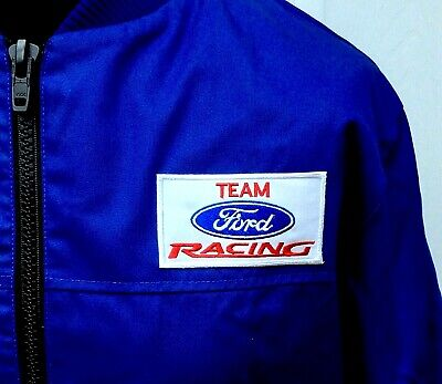 £17 • Buy Team Ford Racing Rally Classic Fully-Lined Badged Bomber Jacket 50 - 52  Chest