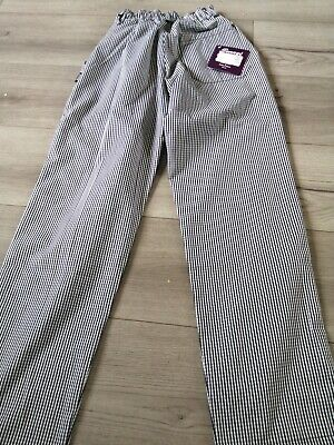 Blue And White Checked Chef Trousers Brand New With Tags Xsmall • 6£