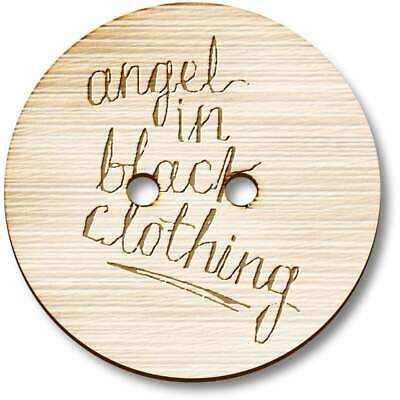 £3.99 • Buy 'Angel In Black' Wooden Buttons (BT017250)