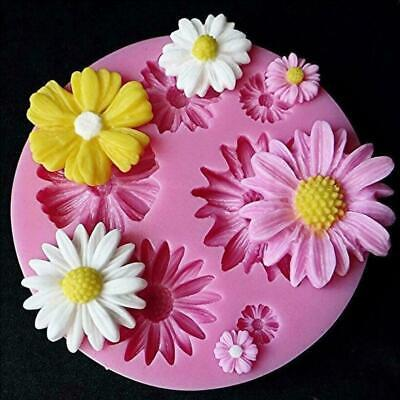 Silicone 3D Daisy Flowers Shape Fondant Mold Cake Chocolate Decorating DIY Mould • 4.99£
