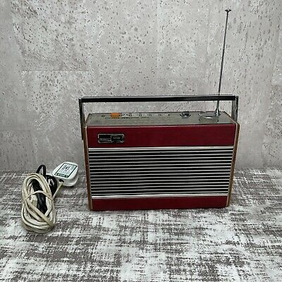 £49.99 • Buy Vintage Portable Roberts R727 5 Band AM/FM Radio Red Leather Tested & Working