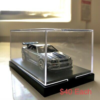 AU10 • Buy Hot Wheels Premium Nissan Skyline GTR R34 Fast And Furious In A Display Box 1:64