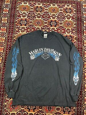 $ CDN37.65 • Buy Vtg Harley Davidson Long Sleeve Double Sided Graphic Tee Shirt Size XL