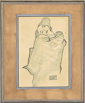 $ CDN62.66 • Buy GUSTAV KLIMT - Old Sketch COAL HANDMADE !!! Old Draw !!! BEST PRICE !!!