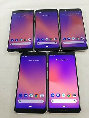 $ CDN375.96 • Buy LOT Of 5 Google Pixel 3 G013A 64GB GSM Unlocked Android Smartphone Black #A071L