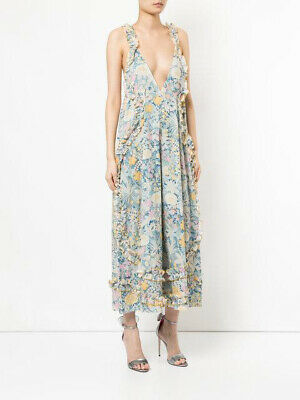 AU130 • Buy ALICE MCCALL Floral Blue Yellow Wide Leg OH LADY Jumpsuit Garden Bloom Cotton 8