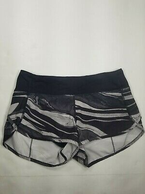 $ CDN45.14 • Buy Lululemon Womens SZ 4 Speed Shorts Lined Gray Multi-Color Great Condition