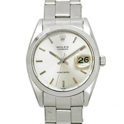 $ CDN2954.05 • Buy ROLEX Oyster Date Precision 6694 Hand Winding Silver Dial Mens Watch 90122184