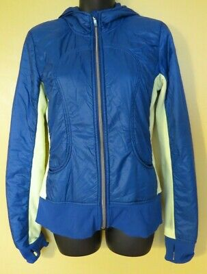 AU12 • Buy LULULEMON Zip Front Blue/Green Lightly Insulated Jacket In EUC Sz Can 6 AU 10