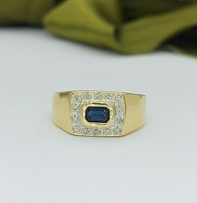 AU289 • Buy Ladies Ring 9ct (375, 9K) Yellow Gold Natural Sapphire And Diamond Ring