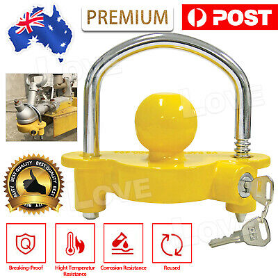 AU19.45 • Buy Universal High Security Hitch Lock Caravan Trailer Coupling Tow Ball Lock