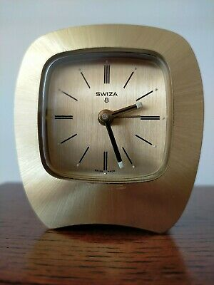 AU115.62 • Buy Swiza 8 Day Travel Alarm Clock With Original Box And Certificate Of Purchase.