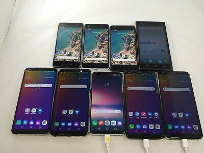 $ CDN150.38 • Buy LOT Of 9 LG Stylo 5, V30, ZTE ZMax,Google Pixel 2 Assorted Smartphones A075L
