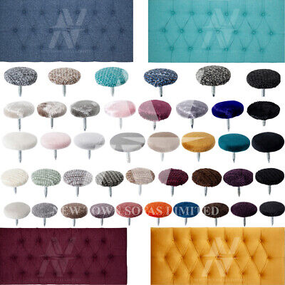 £4.99 • Buy Covered Nail Back Buttons Upholstery Fabric Headboards Sofas Buttons 30L/18 Mm.