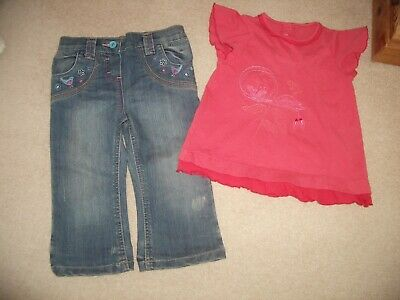 Girls Jeans & Top Age 2-3 Yrs • 4.50£