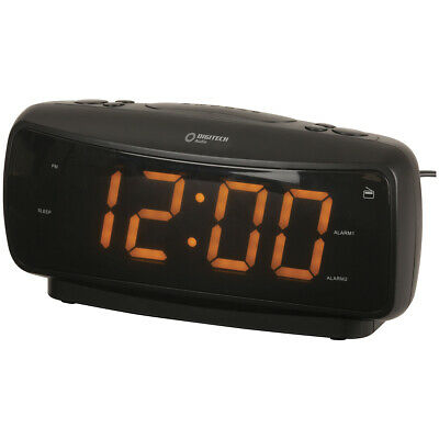 AU42.95 • Buy Large-Digit Alarm Clock With AM/FM Radio