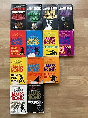 $39.99 • Buy Lot Of 13 Vintage Ian Fleming James Bond 007 PB's
