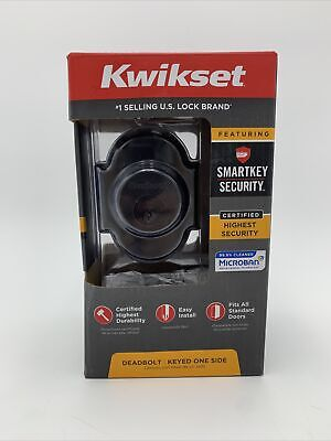 $ CDN33.82 • Buy Kwikset Smartkey Austin Venetian Bronze Single Cylinder Deadbolt