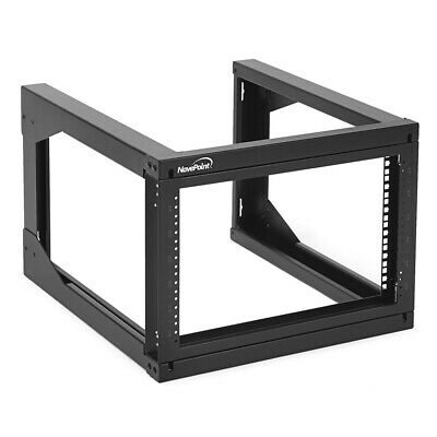 AU137.23 • Buy NavePoint 6U Wall Mount Open Frame Network Rack, 24  D, Swing Out Hinged Gate