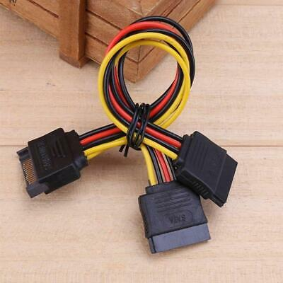 AU3.09 • Buy Sata 15 Pin Male To 2 Female Power Cable Hdd / Ssd Splitter Connector T1Y5