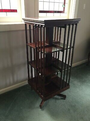 AU1375 • Buy Antique Silky Oak Revolving Bookcase!