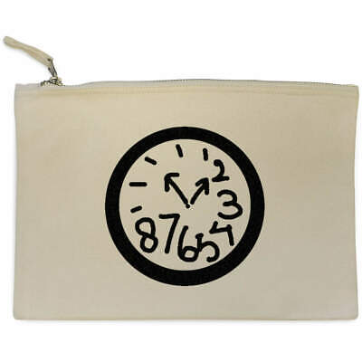 £9.99 • Buy 'Quirky Clock' Canvas Clutch Bag / Accessory Case (CL00018978)