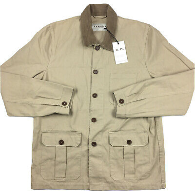 AU99 • Buy RM Williams Mens Drovers Chore Jacket Beige Brown Size XL NEW