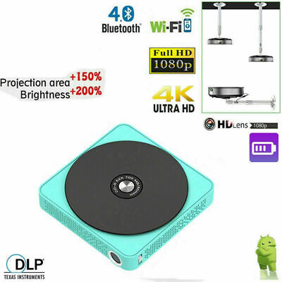 £99.99 • Buy 6000 Lumens DLP Android Home Cinema Projector 4K HD WIFI 3D HD 1080P HDMI USB SD