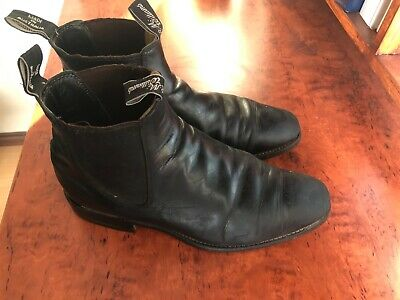AU89.23 • Buy RM Williams - Black Dress Boots - Size 8 - Used