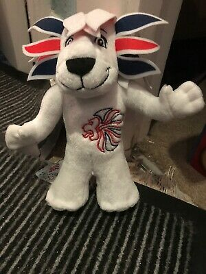 Official Team GB Pride The Lion Mascot Soft Toy London 2012 Olympic Games • 1.80£
