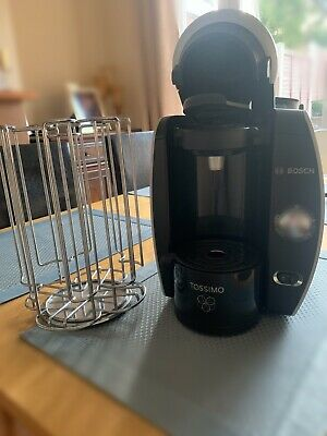 View Details Bosch Tassimo Fidelia T40 (Silk Silver) Great Condition W/ Pod Rack • 15.00£