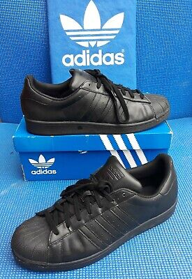 $ CDN41.45 • Buy VTG 2015 Adidas SUPERSTAR  Black Trainers...uk Size 12