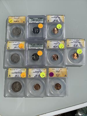 AU13.76 • Buy Certified US Coins ANACS & Or PCGS No Reserve $200+ Red Book Value; C75