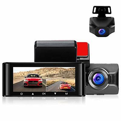 AU207.78 • Buy Dash Cam For Cars 4K Front Dashboard Camera And 1080P Rear Dashcam W4K WiFi D...