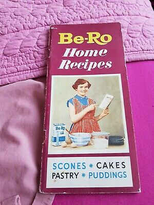 Vintage Be-Ro Home Recipe Book- 24th Ed-Cakes, Scones, Pastry, Puddings. • 19.99£