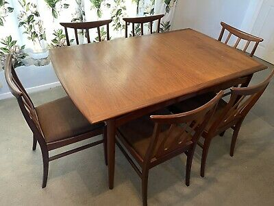 G Plan Extending Dining Table And 6 Chairs • 113£