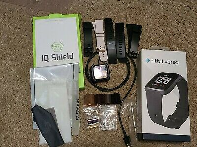 $ CDN56.33 • Buy Fitbit Versa Plus Accessories, Metal & Rubber Bands, Protective Shields, Charger