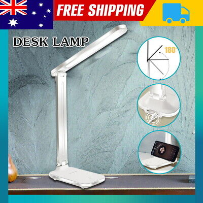 AU15.90 • Buy Touch LED Desk Lamp Bedside Study Reading Table Light USB 3 Modes Dimmable AU