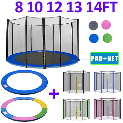 £26.99 • Buy Replacement Trampoline Enclosure Surround Safety Net And Spring Cover Padding UK