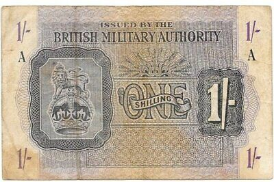£45 • Buy British Military Authority1 Shilling 1943 Block-A M#2