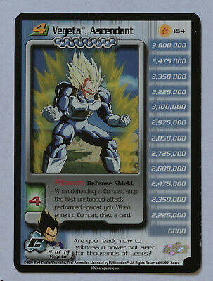 AU30.97 • Buy Dragon Ball Z DBZ CCG TCG 154 Vegeta The Ascendant LV4 RARE CARD