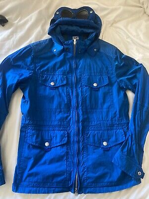 Cp Company Goggle Jacket Electric Blue Size 50 Large Used Excellent Condition • 90£